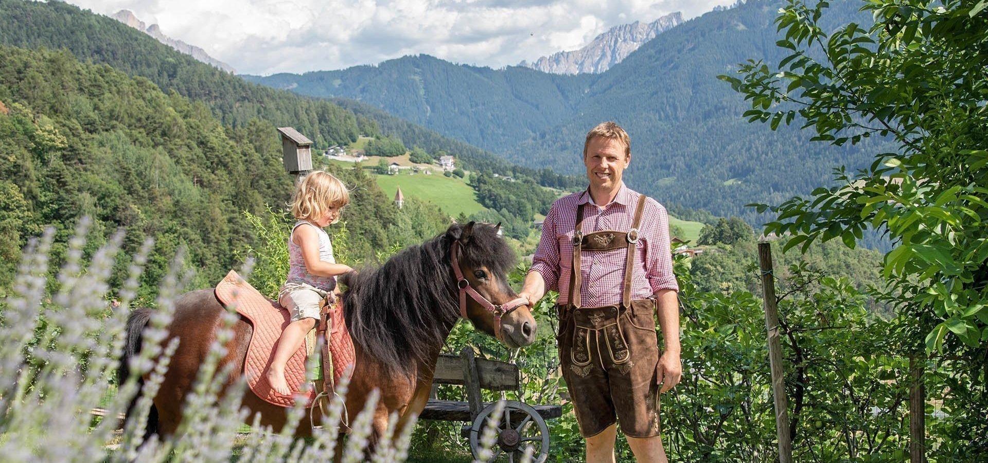 Kinderurlaub am Bauernhof Südtirol