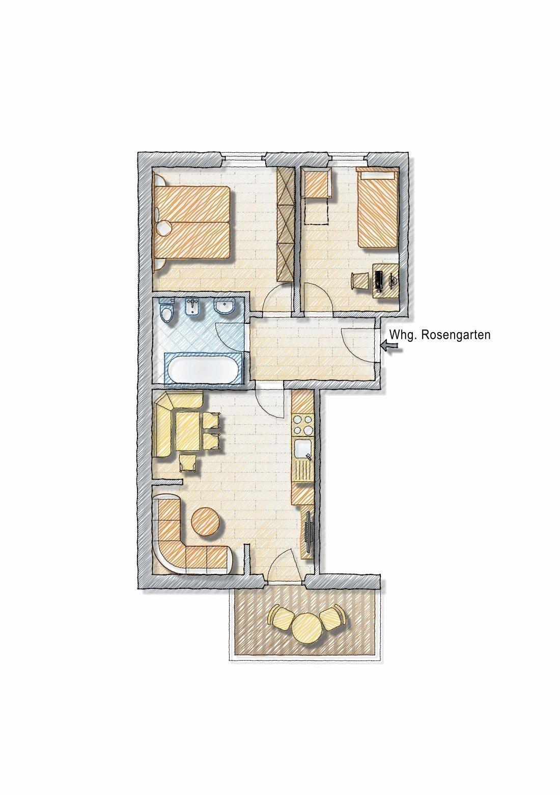 Appartamento vacanze Rosengarten