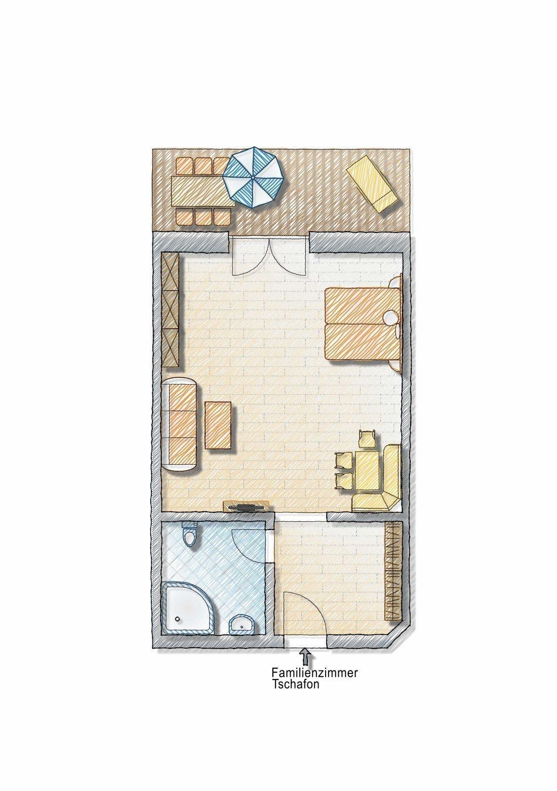 """Family room """"Tschafon"""""""